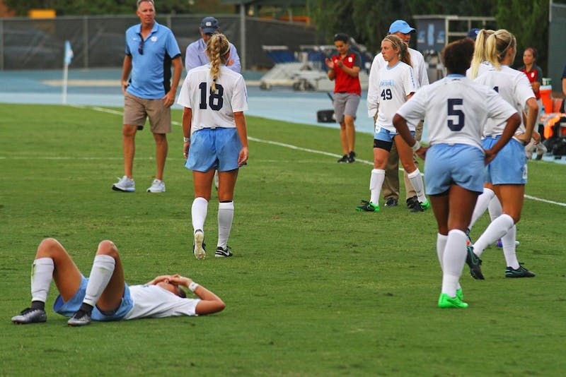 The Tar Heels fell to NC State Friday evening at Fetzer Field 1-0.