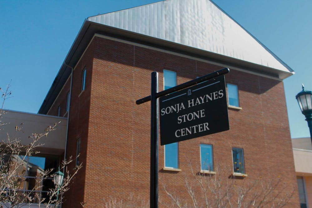 <p>The Sonja Haynes Stone Center pictured on UNC's campus on Sunday, Feb. 9, 2020. The Stone Center will serve as a voting location for the Democratic primary on Tuesday, March 3, 2020.</p>