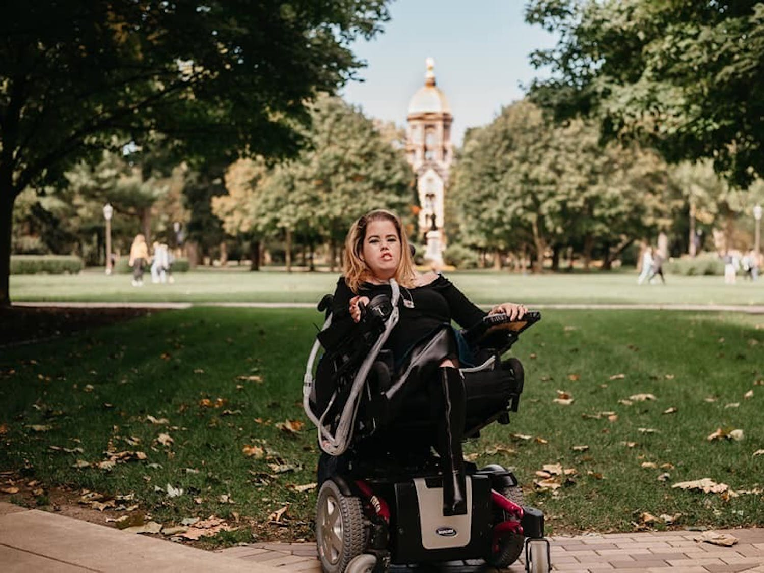 Megan Crowley already has two degrees from Notre Dame, but she's not done yet. Crowley has lived her entire life with a rare genetic disease, and she's ready to help people like her. Photo courtesy of Megan Crowley, Hey Sisters! Photography.