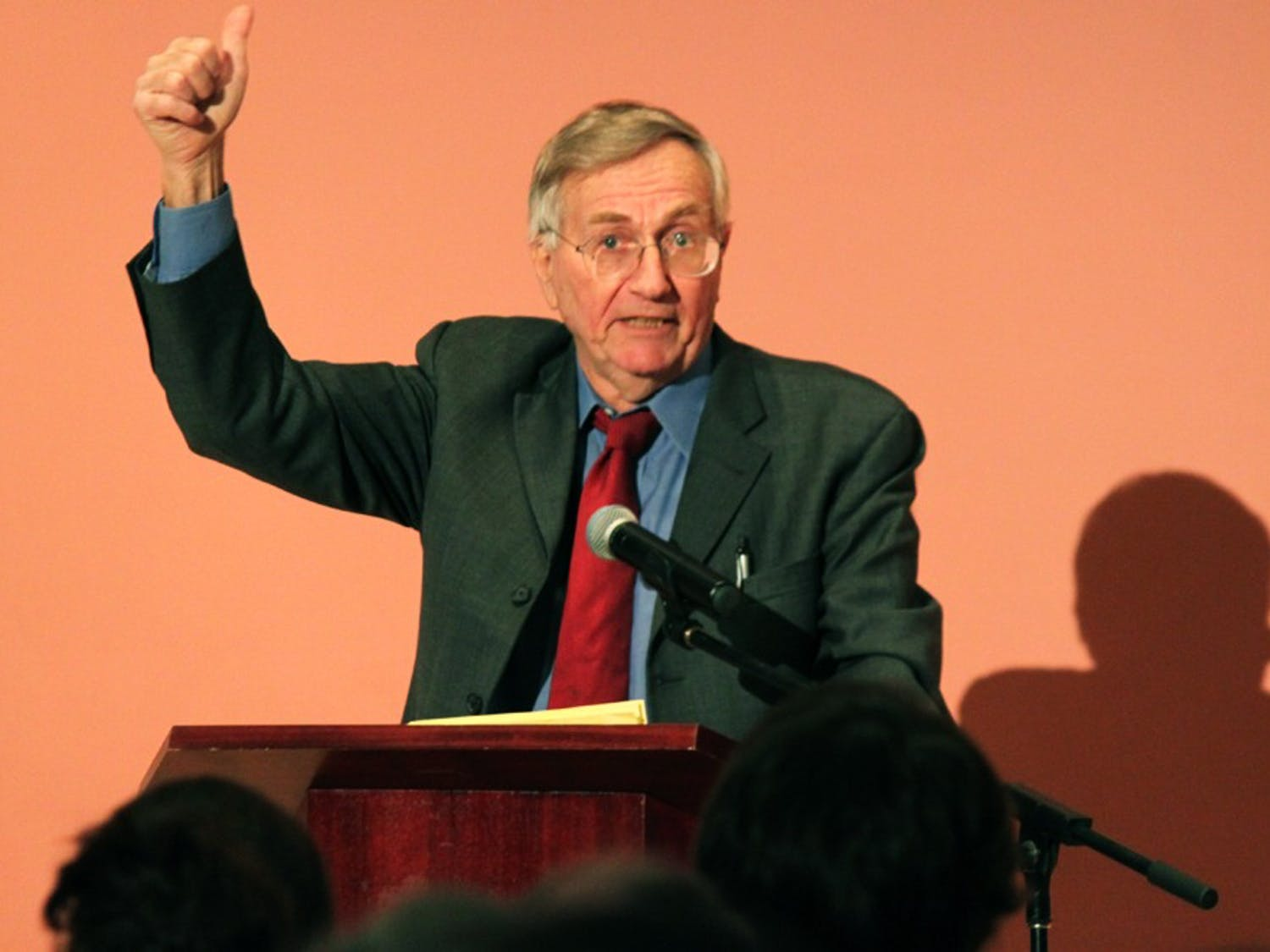 """Seymour Hersh, the Pulitzer Prize-winning investigative journalist, discusses Obama and Bush foreign policy. He has published eight books and exposed the My Lai massacre  in 1969 and the Abu Ghraib prison scandal in 2004.His lecture was titled """"A Report from Washington on the Obama/Bush Foreign Policy"""""""