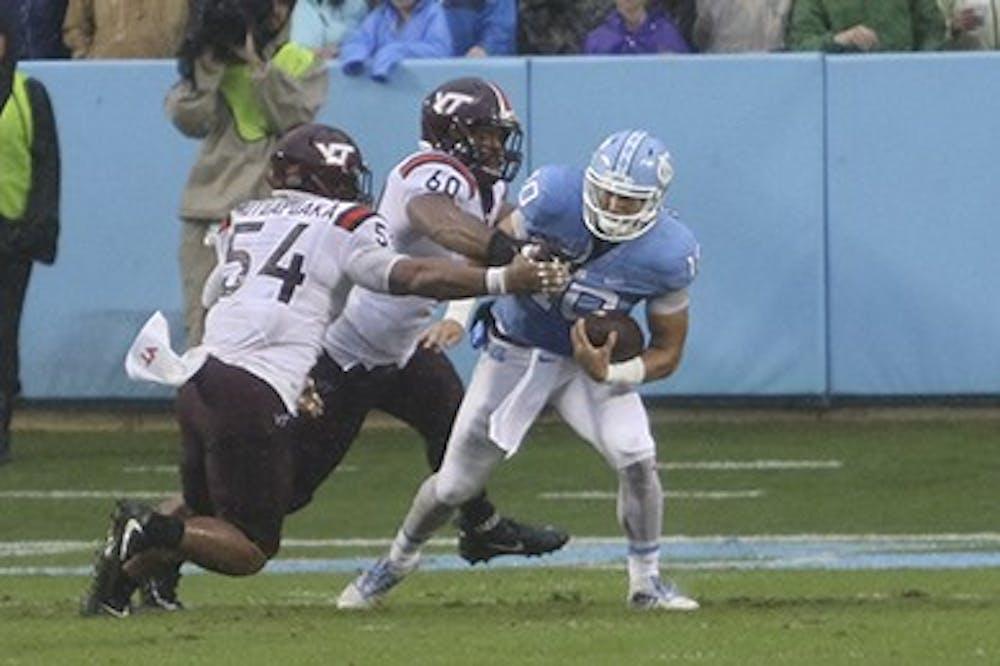 No. 17 UNC football falls apart in 34-3 loss to No. 25 Virginia Tech