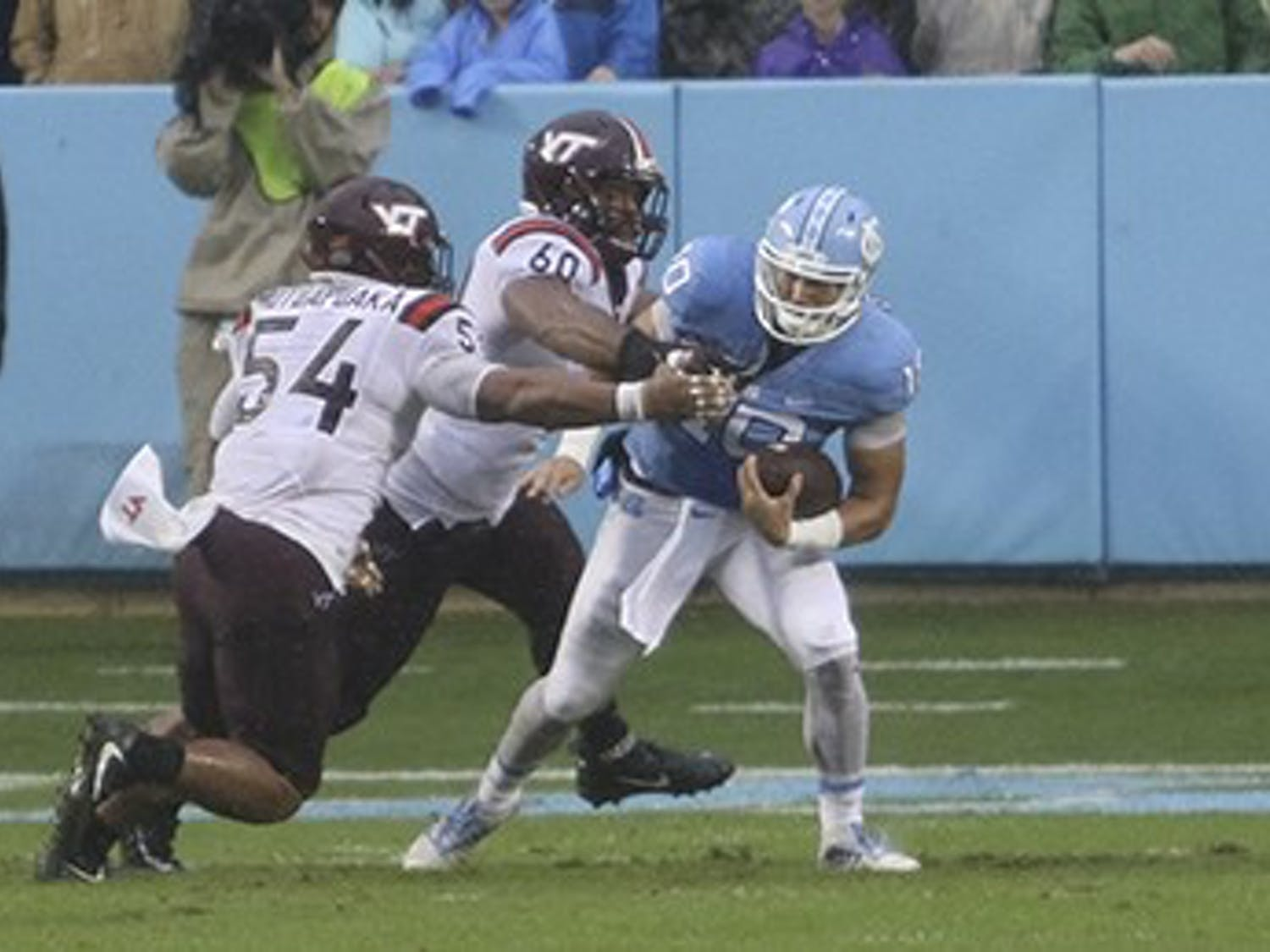 UNC fell to Virgina Tech 34-3 on Saturday.