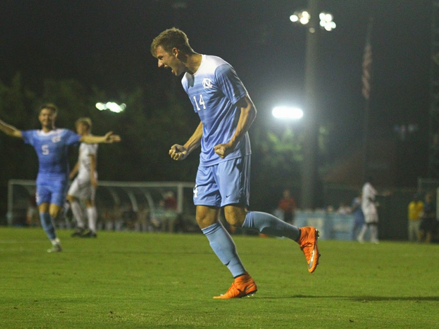 The Tar Heels defeated Boston College 5-0 Friday evening at Fetzer Field.