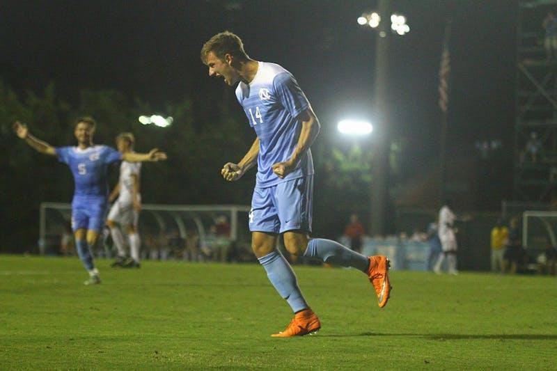 UNC men's soccer defeats Boston College 5-0
