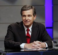 North Carolina Gov. Roy Cooper during a debate at WRAL studios in Raleigh, N.C., on Oct. 18, 2016. Cooper vetoed an abortion bill Thursday that would create new criminal and civil penalties for infanticide. (Chris Seward/Charlotte Observer/TNS)