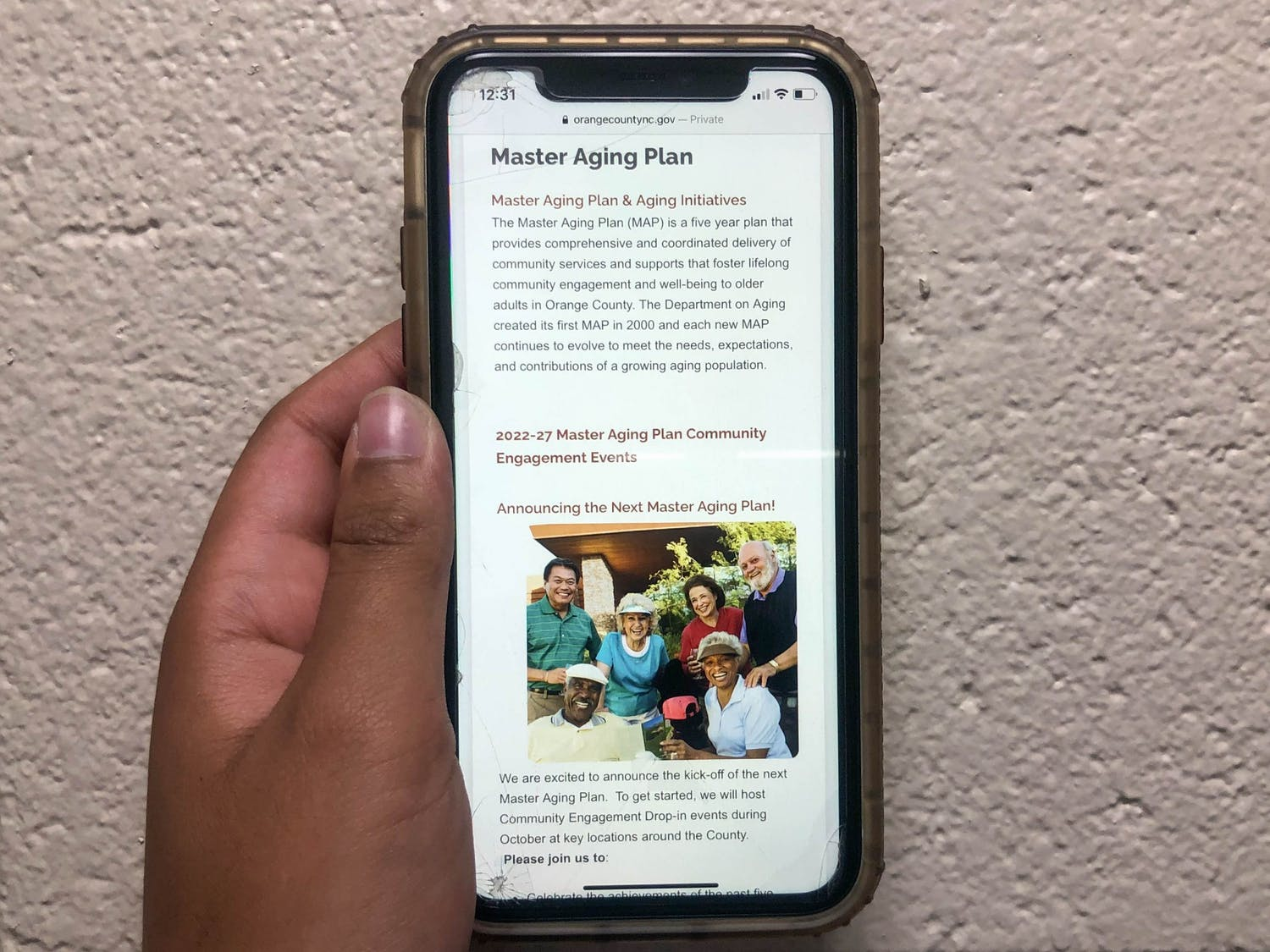 DTH Photo Illustration. The Orange County Master Aging Plan focuses on providing senior citizens resources regarding racial equity, COVID-19 needs, and other areas.