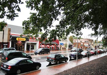 Hillsborough Street in Raleigh has added businesses after a 10-year, $10 million renovation that included sidewalks, parking and two roundabouts.
