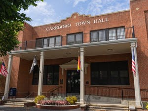 Carrboro Town Hall pictured on Sunday, August 15th, 2021.