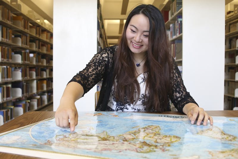 Sophie Niu, a junior international student from Shenzhen, China, is the president of Chinese Students and Scholars.