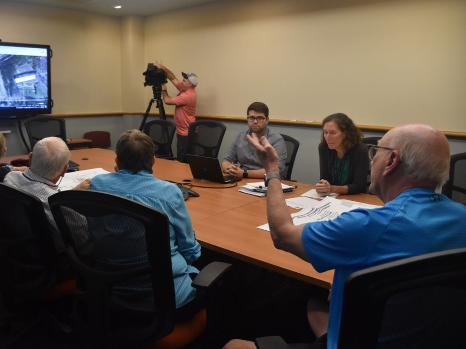 A public meeting was held at Chapel Hill Town Hall to discuss a potential new Wegmans development on Monday, Oct. 7, 2019.