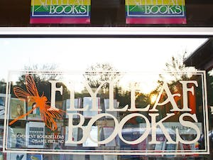 Flyleaf Books posts signs meant to combat the passing of House Bill 2.