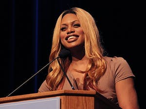 Laverne Cox speaks in the Great Hall of the Student Union Tuesday night at 7 p.m. about her experiences in her transformation as a transgender woman.