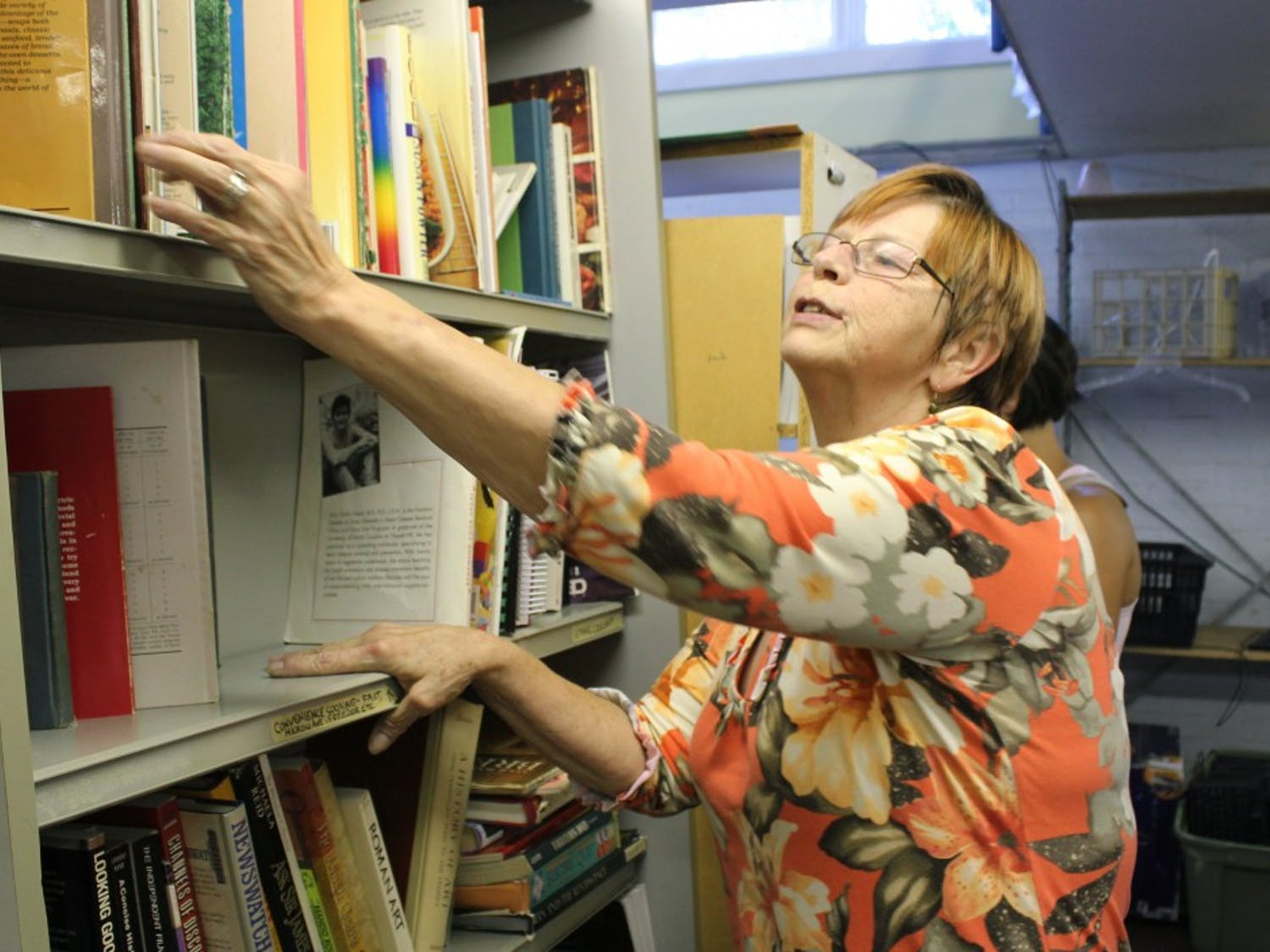"The Jones Ferry Rd. PTA had a closing sale Friday. Nancy O'Keith, of Apex, was browsing for deals. ""I come up here often to go through their stuff,"" she said. ""They have the greatest books."""