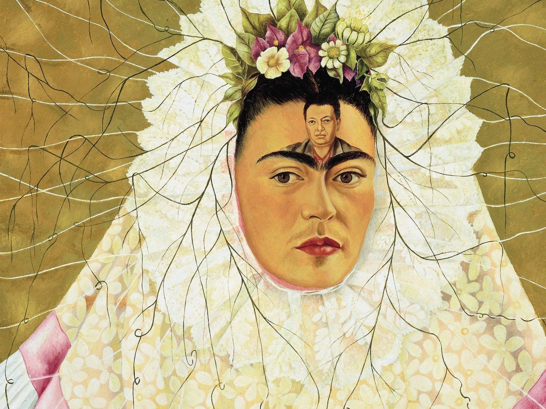 """Self Portrait as a Tehuana"" painting by Frida Kahlo. Photo courtesy of Kat Harding."