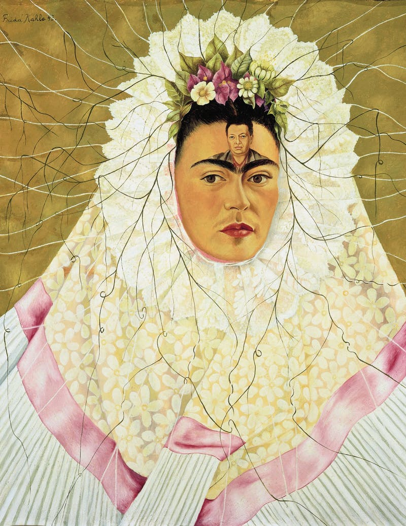 """Self Portrait as a Tehuana"" painting by Frida Kahlo. Photo courtesy of Kat Harding."