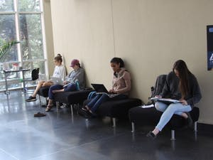 Students spend the morning studying in the Sonja Haynes Stone Center for Black Culture and History on Thursday, Nov. 1, 2018.