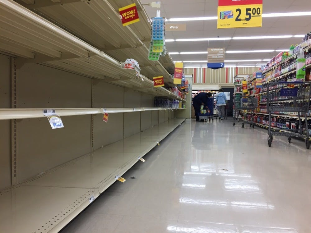 Pipe break, fluoride excess leaves water shelves empty in town