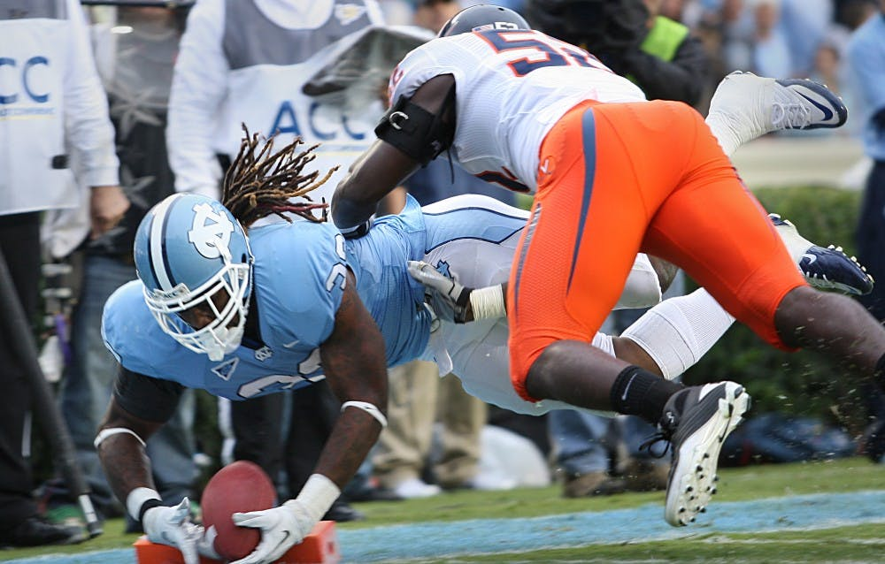 UNC beats Virginia 28-17 in conference opener