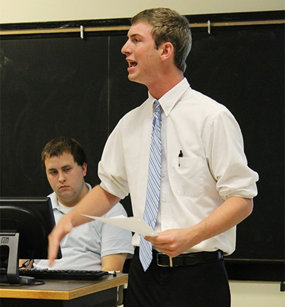 College Republicans protested the budget cut made to their organizationTommy Lasater
