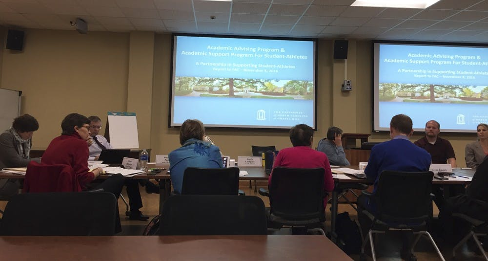 <p>The Faculty Athletic Committee spoke about&nbsp;exit surveys and interviews that student athletes partake in a meeting on Tuesday.</p>