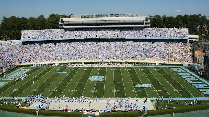 Kenan Stadium played host to 58,500 fans for the home opener against Georgia Tech.
