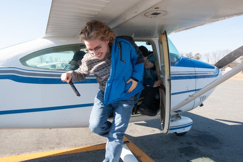 Carolina General Aviation gave UNC students free 30 minute flights in single-engine planes at the Burlington-Alamance Regional Airport on Saturday, Feb. 2, 2019.