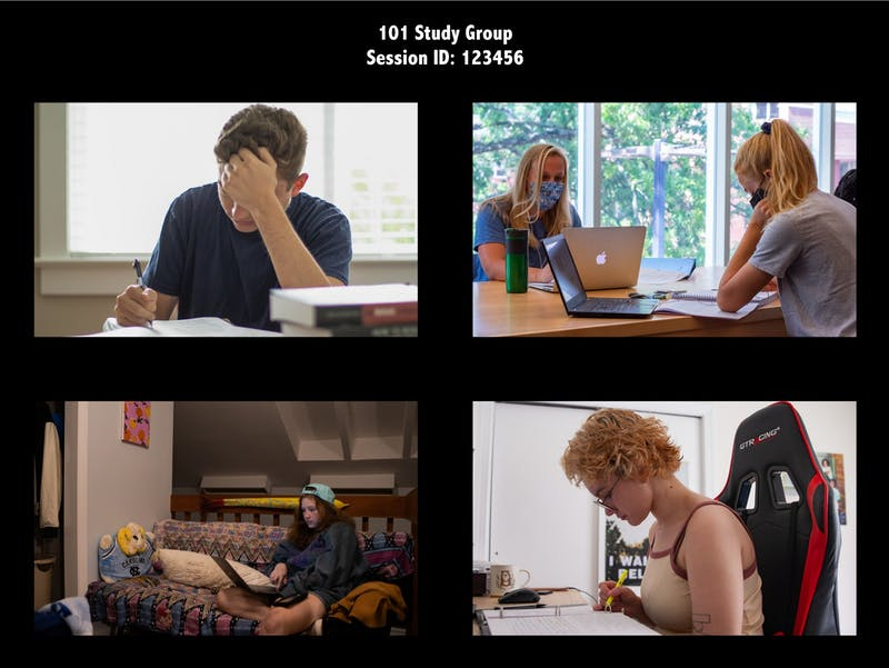 DTH Photo Illustration. With classes for the fall 2020 semester being shifted to an online format, students are turning to virtual platforms to form study groups for classes.