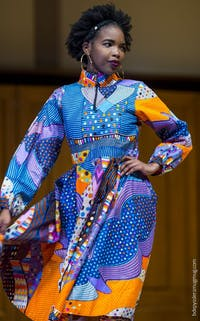 Fashion show displays Vivid Emporium's new styles. Photo courtesy of Kadiatu Kamara.