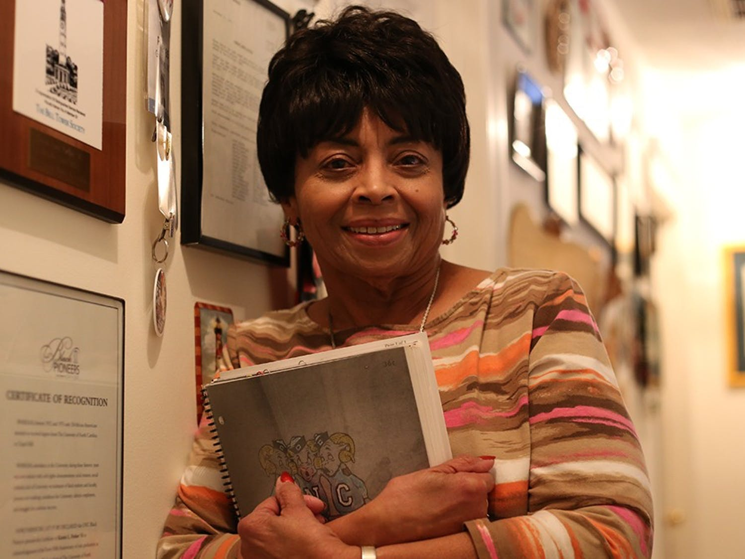 Students will hear from Carolina First honoree Karen Parker, a prominent North Carolina journalist and the first Black female undergraduate to attend the University at the Eve Marie Carson lecture series. Photo courtesy of Meghan Kelley-Gosk.