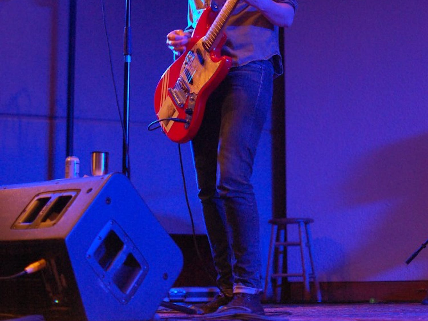 Heather McEntire of Mount Moriah performs with the band at the Southeastern Center for Contemporary Art.