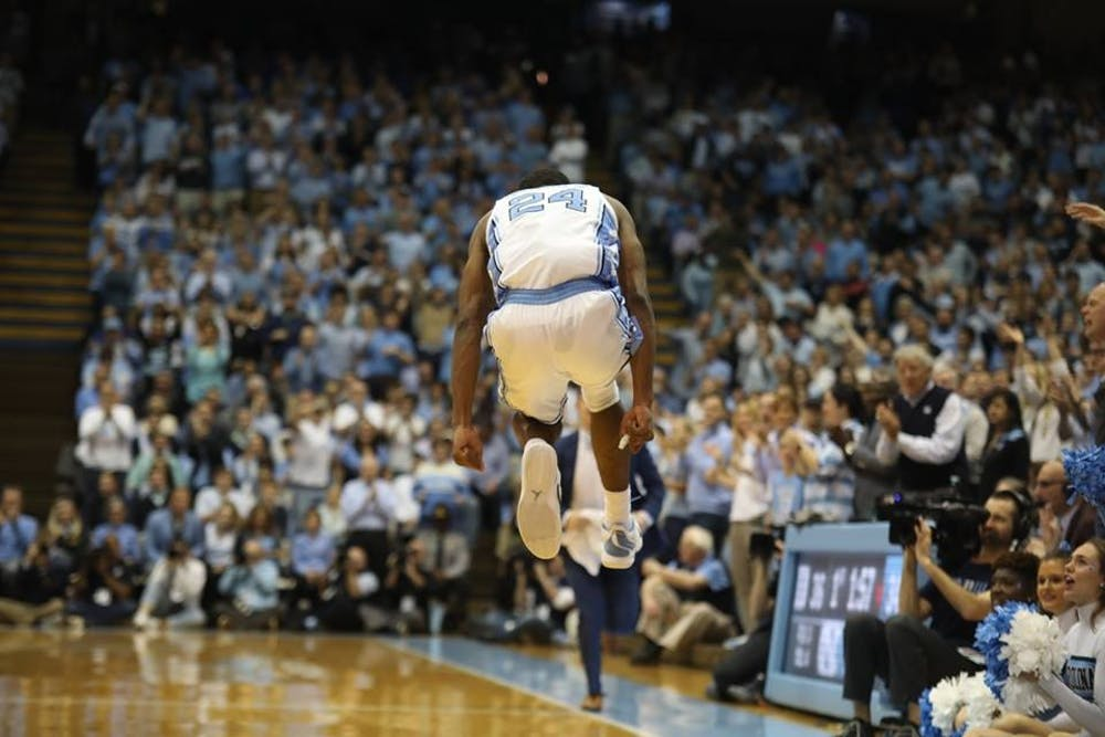No. 3 UNC defeats No. 4 Duke, 79-70, on senior night to earn share of ACC title