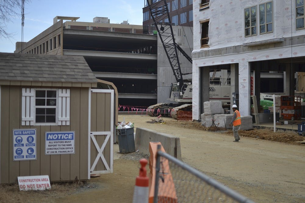Carolina Square construction causes lane closure on Franklin Street