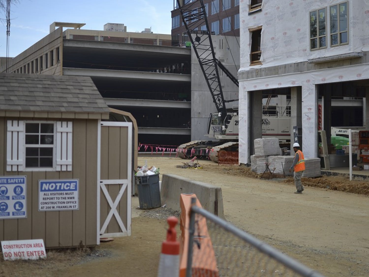 Construction of Carolina Square, a mix of apartment buildings and retail and office spaces, should be completed before the start of fall semester.