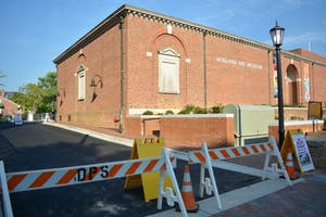 Construction is taking place near the Hanes Art Center and Ackland Art Museum on UNC Chapel Hill's campus.
