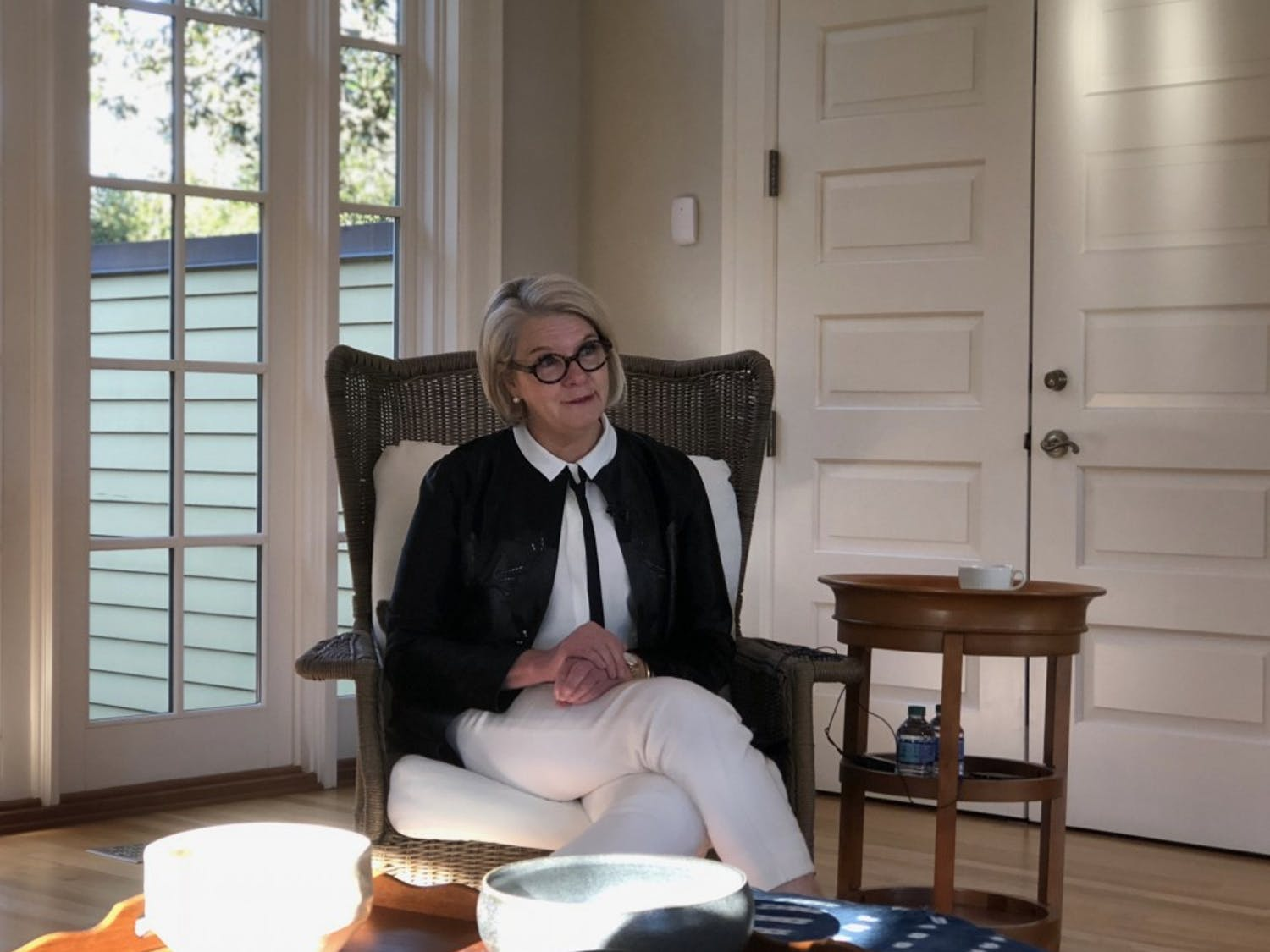 UNC-system President Margaret Spellings met with reporters on Wednesday to discuss her early resignation, Silent Sam and her relocation to North Carolina.