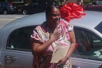 Loretha received a car Friday afternoon from a project called Trade-to-Help.