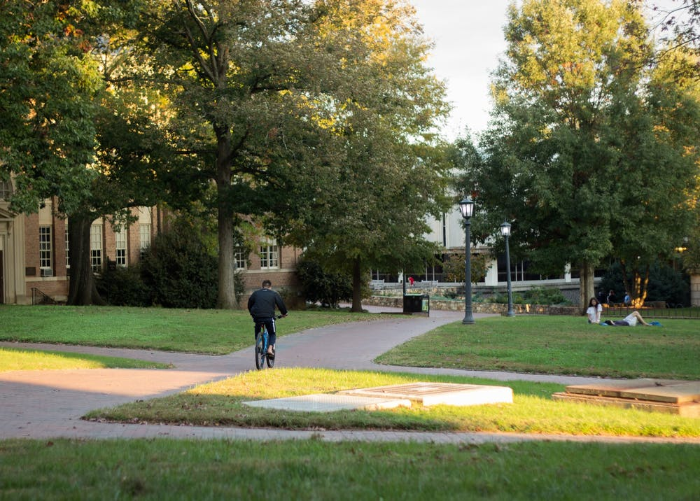 <p>Polk Place, or the quad, on Tuesday, Oct. 27, 2020.</p>