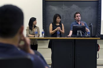 "During ""Sharing Our Experiences,"" Anan Zhou, co-chair of Project Dinah; Kaori Sueyoshi, founder of SURGE; and Wilson Hood, managing editor of The Siren, shared their thoughts on topics ranging from reproductive justice to gender neutral housing."