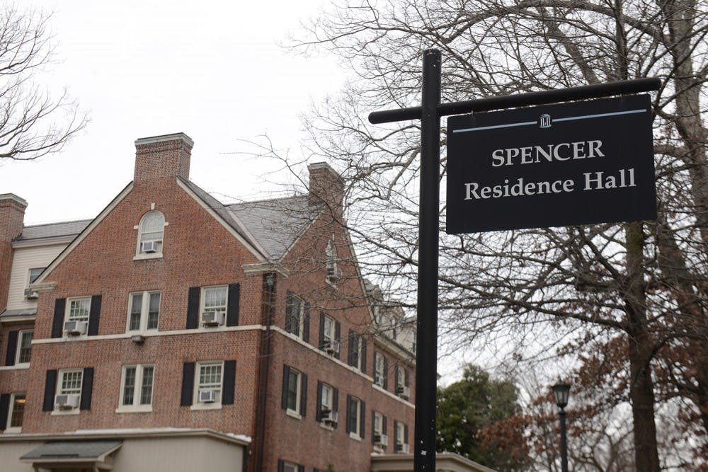 Attempted break-ins and one successful break-in at Spencer dorm over break