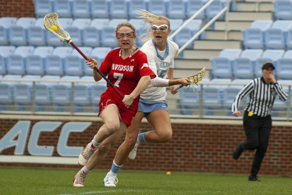 Ortega and Hoeg propel offense in UNC women's lacrosse's win over Davidson
