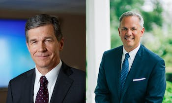 Incumbent Democrat Roy Cooper (left) and Republican Dan Forest (right) are the candidates for N.C. Governor. Photos courtesy of Cooper and Forest.