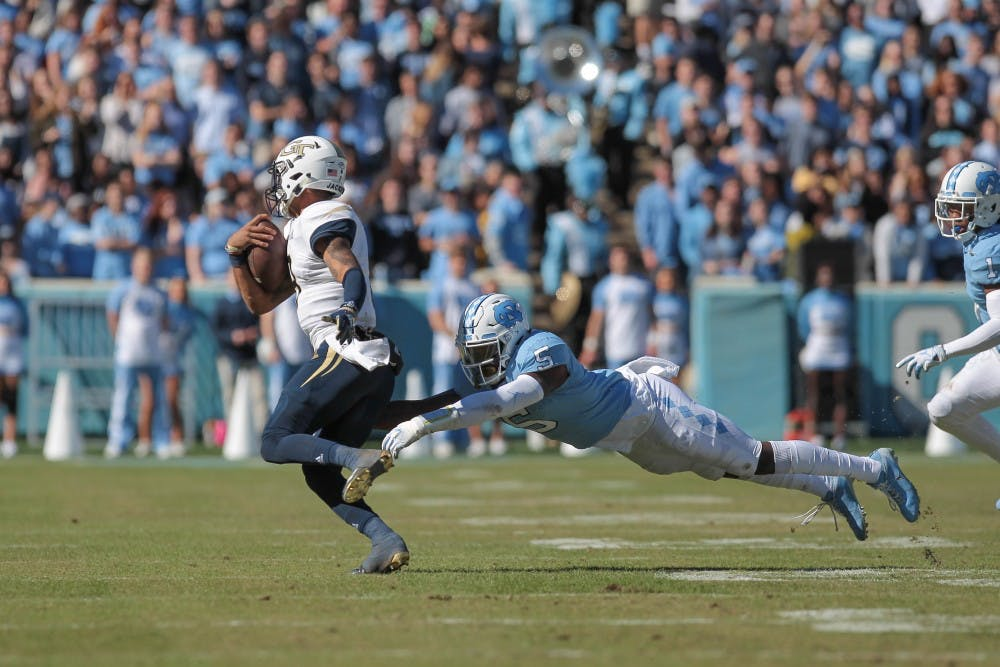 'Chip on our shoulder': UNC football looks to rebound after loss to Virginia