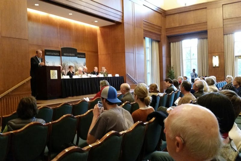 The Alumni Center hosted faculty panel about the political landscape in North Carolina Wednesday.