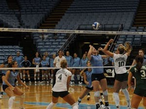 Erica Behm (2) had career-highs in assists and digs during weekend action for North Carolina.
