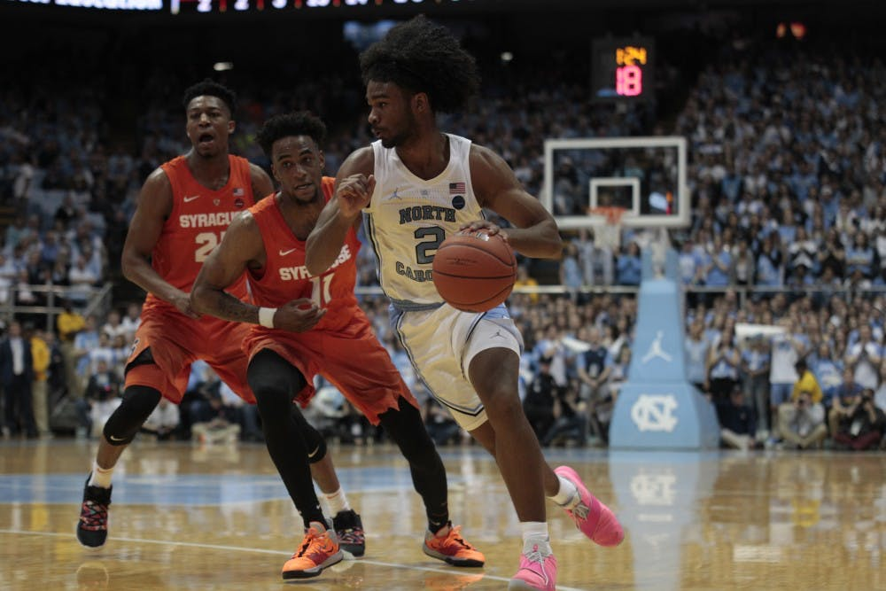 Coby White scores career-high 34 points to lead UNC men's basketball past Syracuse