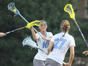 Freshman attacker Sydney Holman scored the first goal Saturday against Georgetown. She finished with a hat trick in the UNC victory.