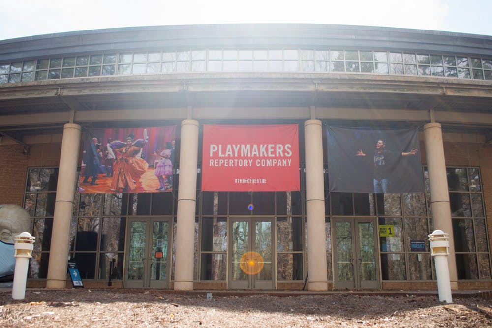 <p>The Joan H. Gillings Center for Dramatic Art on Wednesday, March 17, 2021.</p>