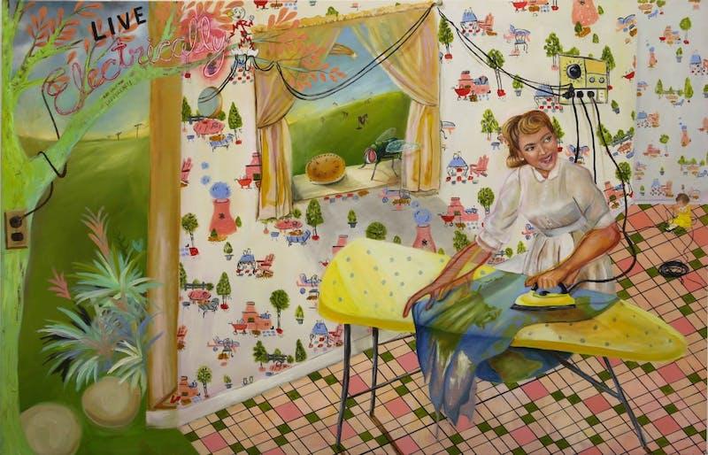 "Allison Coleman's thesis exhibition ""Rosy Retrospection"" explores themes of memory and nostalgia. Courtesy of Allison Coleman."