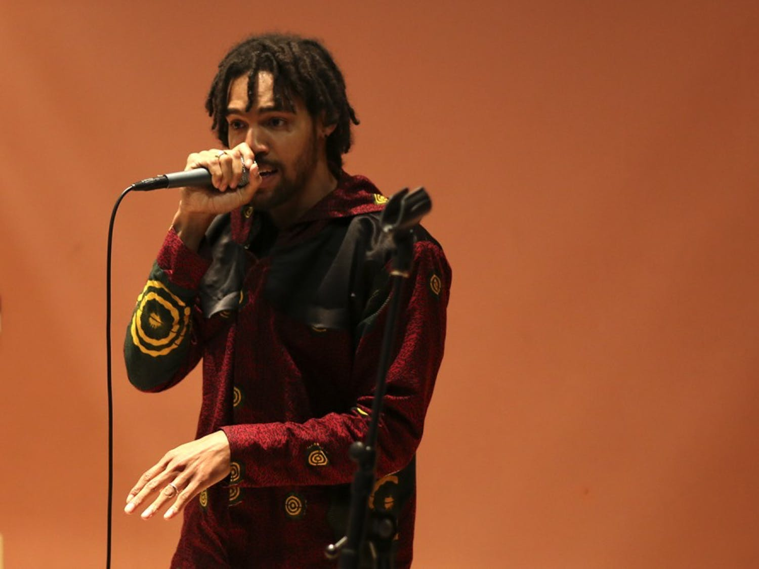 Josh Rowsey, aka (J) Rowdy performs as a part of the the Hip Hop and Social Justiceevent at the Parr Center for Ethics and the Institute for the Arts and Humanities.