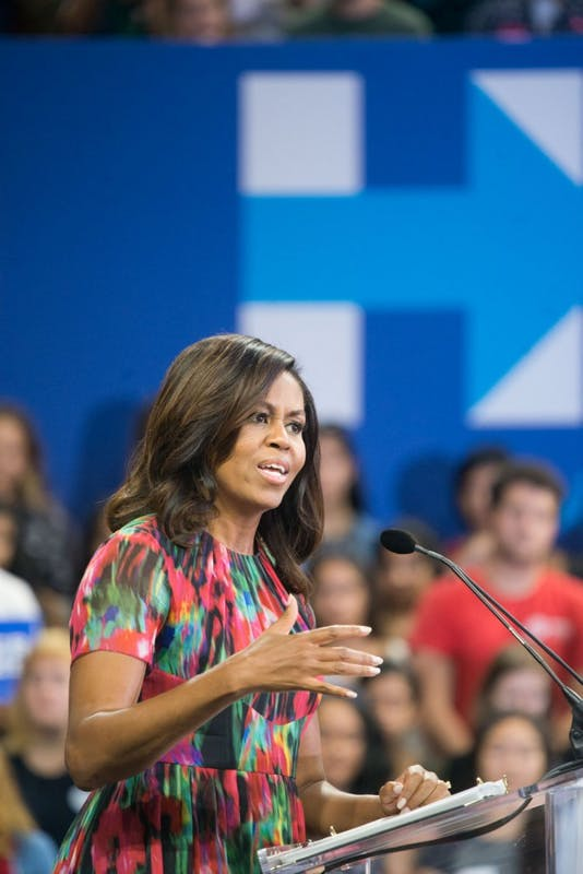 First Lady Michelle Obama speaks at NC State